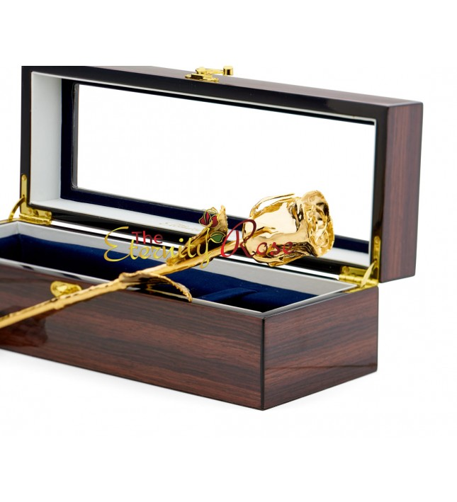 Gold-Dipped Rose Woodgrain Window Case