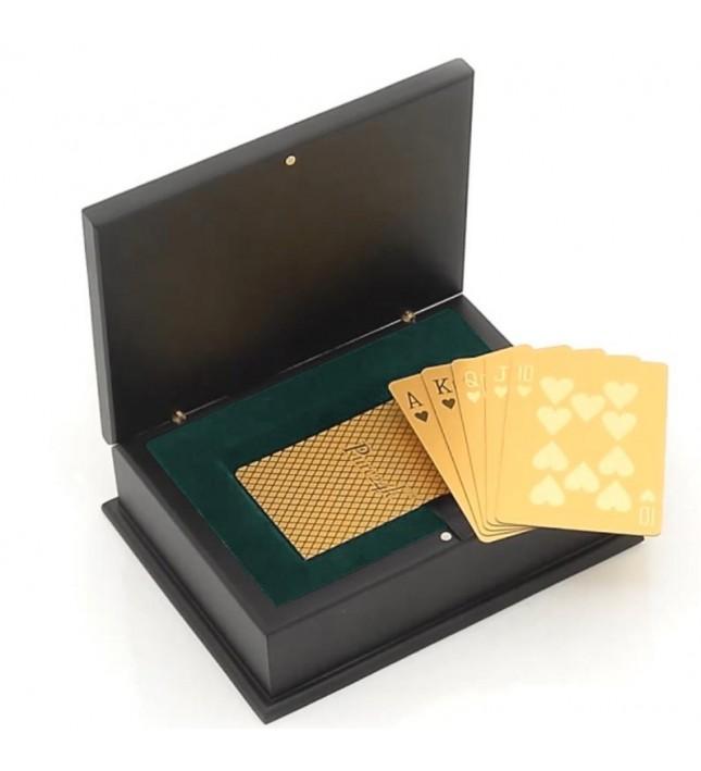 24 Karat Gold-Dipped Poker Cards