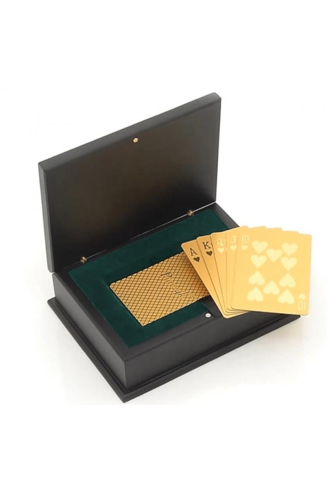 24 Karat Gold-Dipped Poker Cards