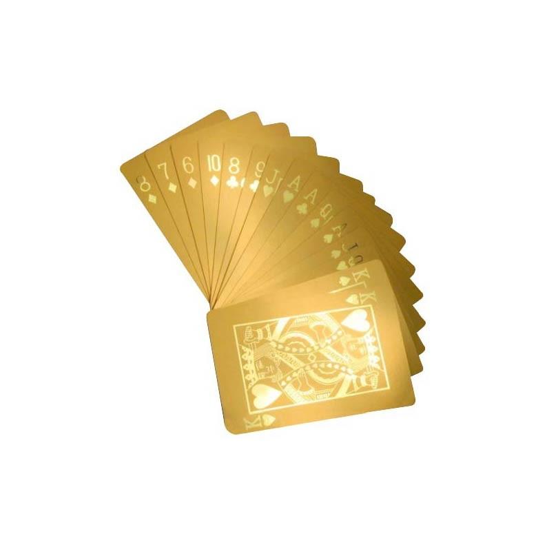 24 karat gold dipped poker cards stunning and unique. Black Bedroom Furniture Sets. Home Design Ideas