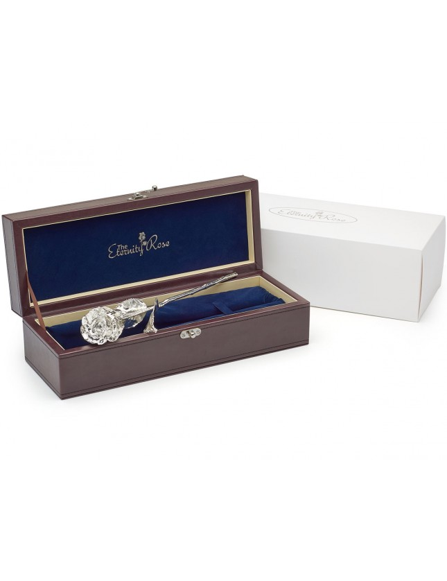 Gifts For Her Silver Dipped Rose