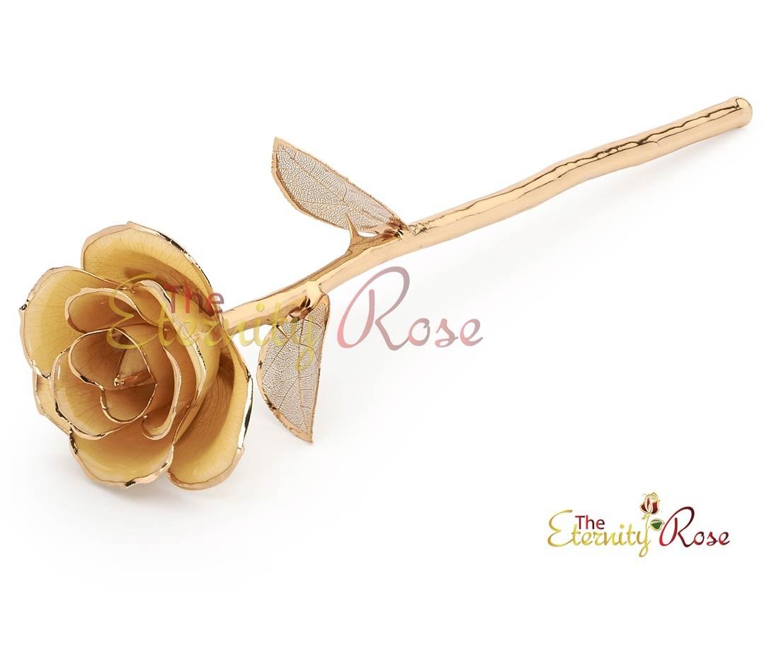 White Matched Set In 24k Gold Leaf Theme Glazed Rose