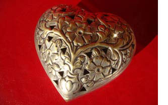 Brass heart for 21st anniversary & 21 Year Wedding Anniversary Gift Ideas To Surprise And Amaze