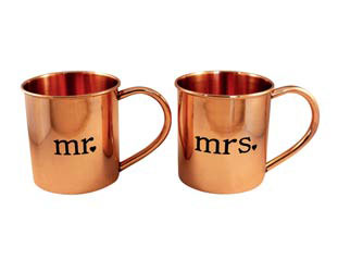 Copper mugs for 22nd anniversary