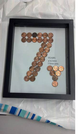 Find 7 year anniversary gift ideas to make her smile copper theme 7th anniversary negle