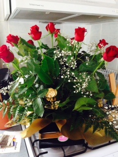 gold rose in flower bunch