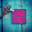 Cool birthday gifts - monogrammed keychain