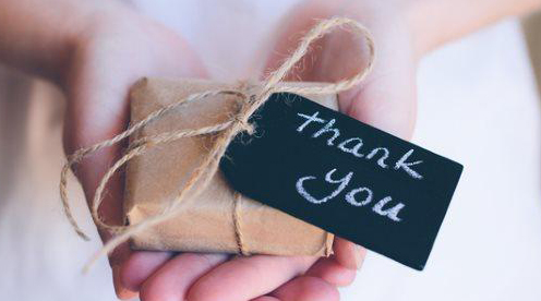 Birthday gift etiquette - thank you