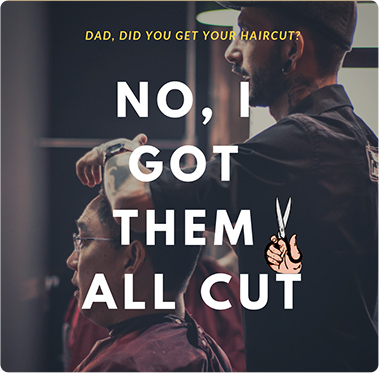 Dad jokes on haircut