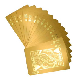 bachelor party gift gold plated poker cards